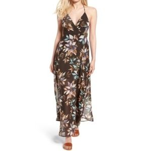 NWT Astr the Label Floral Surplice Maxi Dress - XS